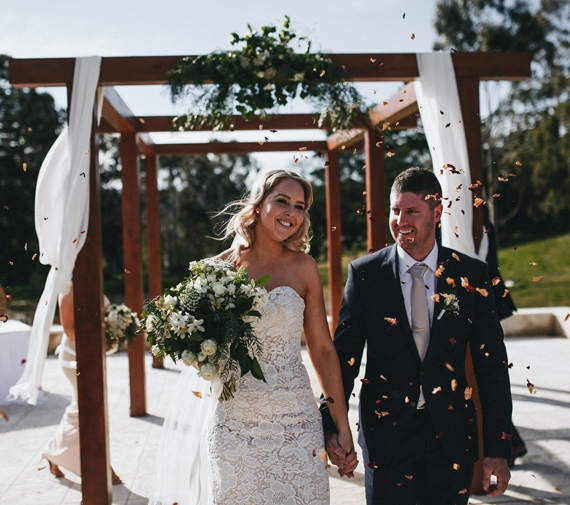 Bride and Groom at their Adelaide Hills Wedding in Hahndorf
