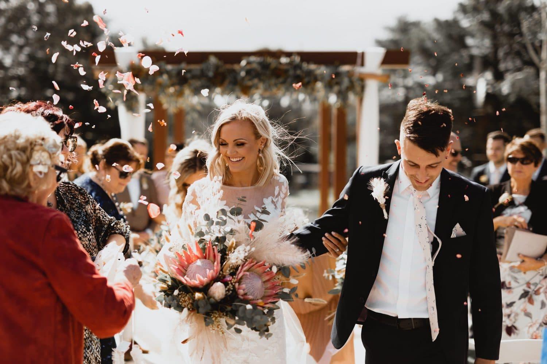 Bride & Groom at their Adelaide Hills Wedding