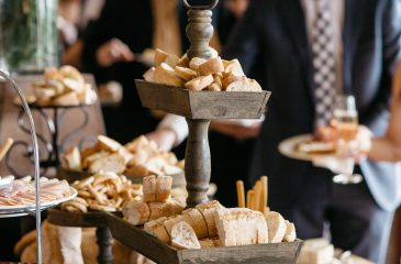 food buffet table at adelaide hills wedding venue